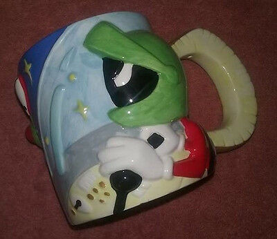 Marvin the Martian & K9 3D Coffee Mug Cup 1995 Warner Brothers