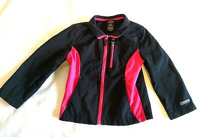 MOUNTAIN XPEDITION Girls Jacket Black Pink Winter Coat Zippers Small 6-6X Soft
