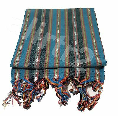 Turkish Pestemal Towel Fouta Hammam Sauna Beach Gym Pom Pom Stripy COLORFULL