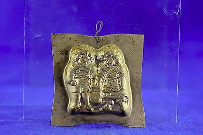 Vintage Heavy Gauge Metal Jack And Jill Chocolate Or Candy Mold