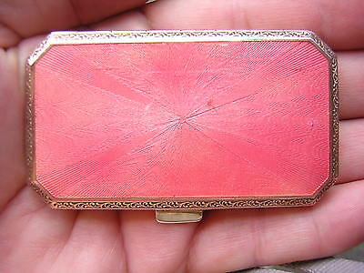Antique Vintage Pink Enameled Gold Case