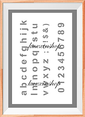 Alphabet ABC Sign Letter Word A4 Mylar Reusable Stencil Airbrush Painting Art