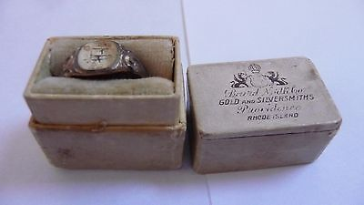 vintage advertising Baird Niliakilo Gold Silversmith box with ring