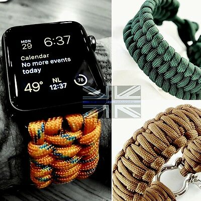 KMP Customised Paracord Apple Watch Strap Gents Fashion