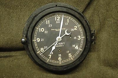 WWII  US NAVY Chelsea Ships Clock serial 435267 - MAY 1944