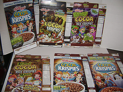 Halloween themed cereal box collection - Cocoa Krispies lot of 6 boxes