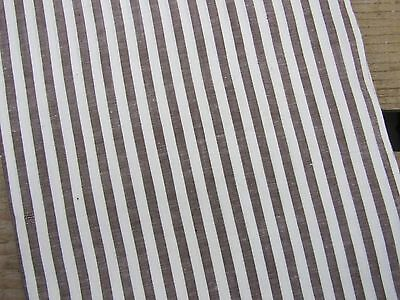 "Vintage Fabric Yardage * Brown White Stripe * 34"" w. x 4 YARDS * Cotton"