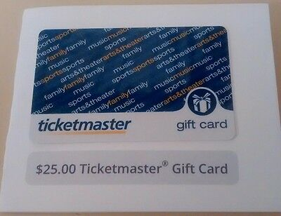 $25 Ticketmaster Gift Card