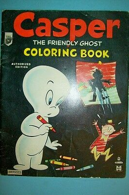 Vintage 1959 Casper the Friendly Ghost Coloring Book by Saalfield