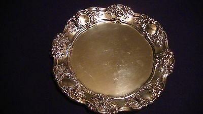 "Old Master Silverplate Bread & Butter Plate Embossed 4060 Tray 7 1/2"" Ornate"