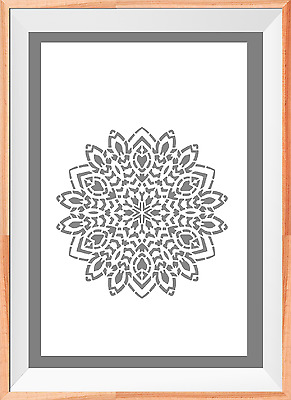 Mandala flower Pattern A4 Mylar Reusable Stencil Airbrush Painting Art