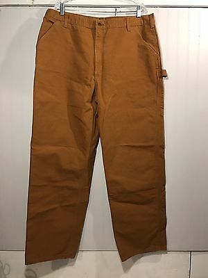 Men's CARHARTT Khaki Dungaree Fit Bootcut Pants, Size 42x34, SKU11R