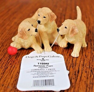 Golden Retriever Pups Figurine from Enesco's Dogs and Pups Galore Series New NWT