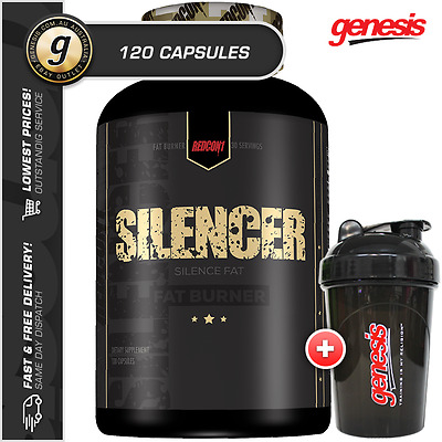 Redcon1 Silencer *120 Capsules* Stim Free Fat Burner Weight Loss + Free Gift!