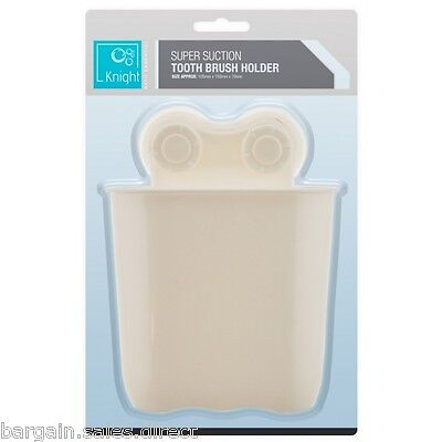 Knight Super Suction White Tooth Brush Holder Basket