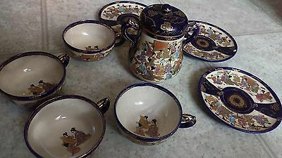 Antique Meiji Japanese Tea Cup & Saucer Set Signed