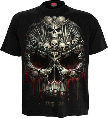 SPIRAL DIRECT DEATH BONES T Shirt Death/Metal/Skull/Souls/Dark Deceased/ Tees
