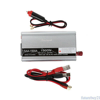 For Electronic1500W Car DC 12V to AC 230V Power Inverter Charger Converter US