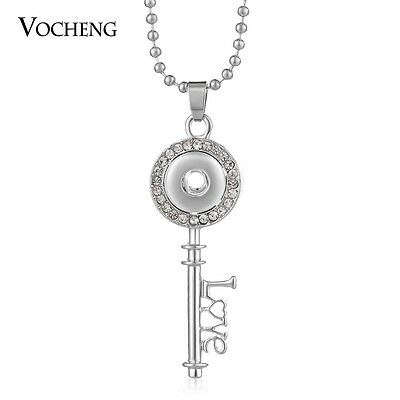 10pcs/lot Vocheng Snap Charms Necklace Sweater Chain 12mm Button Key NN-608*10