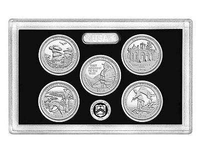 2016-S National Park Quarter Silver Proof Set-No Box, No COA Just as Pictured.