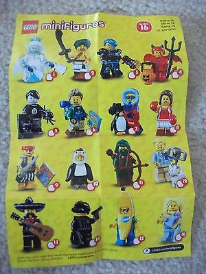 Series 16 LEGO minifigure - Complete your set! NEW Banana Suit guy, Babysitter,