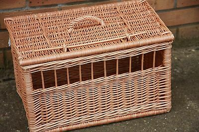 Wicker Cat Dog Pet Carrier Basket Chemicals Free Durable Hand Made
