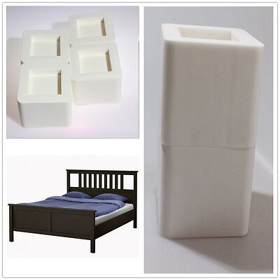 Homewares Bed Lifters Bed Risers Furniture Lifts Storage 4 Count Black