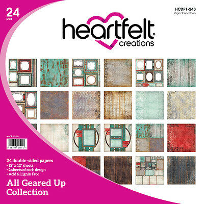 Heartfelt Creations All Geared Up 12x12 Double-Sided Cardstock Paper Collection