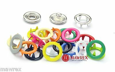 Prong snap fasteners 19 colors! Brass, BEST QUALITY on eBay! Press buttons