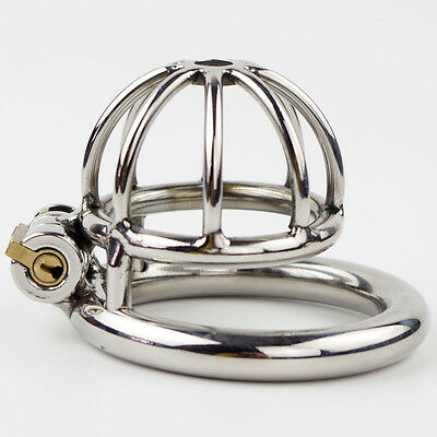 Stainless Steel Confinement Chastity Cage Super Small Size Male Chastity Device