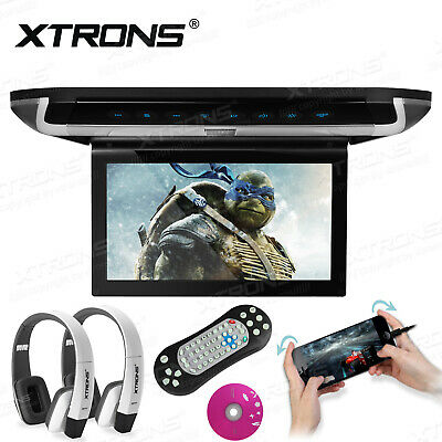 """10"""" Car Roof Mount Overhead Monitor DVD Player Games FM TV Headsets+Headphones"""
