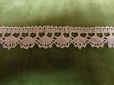 "15 yds. Vtg Ecru Linen Lace 3/4"" Edging Trim"