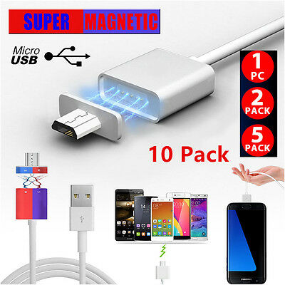 2.4A Micro USB Charging Cable Magnetic Adapter Charger For Android Smart Phone