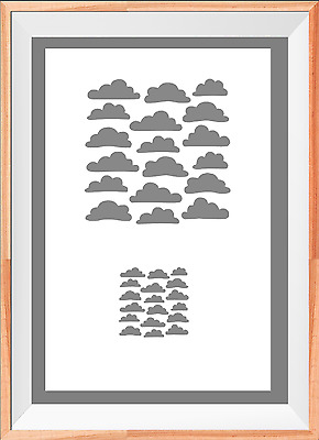 Clouds Kids A4 Mylar Reusable Stencil Airbrush Painting Art
