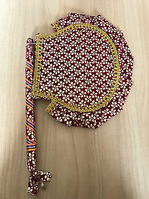 5 x Brand New Handcrafted Traditional Hand Held Indian Fans Decorative