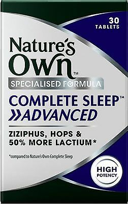 Nature's Own Complete Sleep >> Advanced 30 Tablets Insomnia & Sleep Management