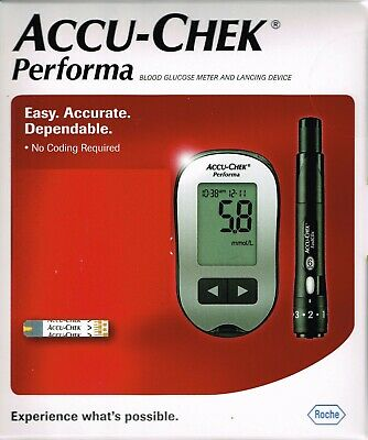 =ACCU-CHEK Performa Blood Glucose Meter+ ACCU CHECK Lancing Device