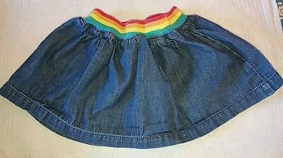 Little Bird 9-12m Lovely denim rainbow skirt summer