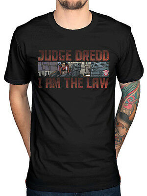 Official 2000AD Judge Dredd I Am The Law Graphic T-shirt Strontium Dog Merch