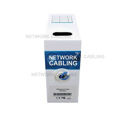 ATcom Cat 6 100m Network Ethernet LAN Cable W/Crimper Punch Tester 20Plugs-Blue