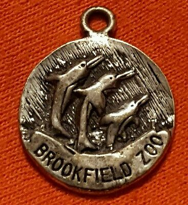 Brookfield Illinois Zoo Tag Medal Token with Dolphins