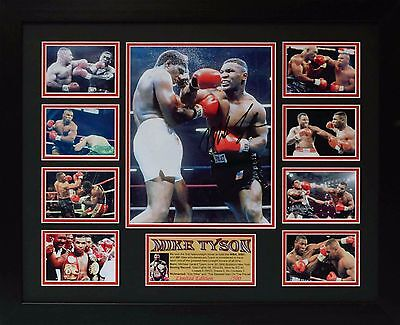 Mike Tyson Limited Edition Framed Signed Memorabilia