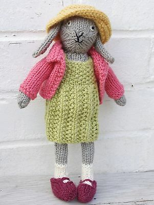 "measure14/"" tall KNITTING Pattern-Cheeky Little Bunny Rabbits to knit i DK wool"