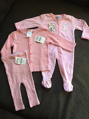 Baby Girls Pink Clothes, New With Tags, Size 0-6 Months (000,00)
