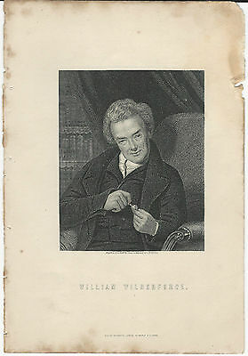 WILLIAM WILBERFORCE ORIGINAL ANTIQUE PRINT FROM STEEL ENGRAVING c.1875