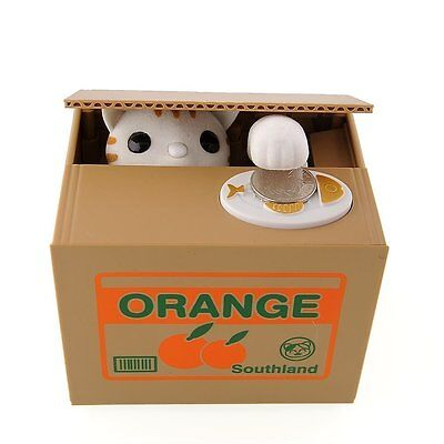TERUTERU - Cute Stealing Coin Cat Money Box Piggy Bank Kawaii KIDS free shipping