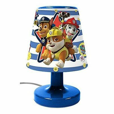 Paw Patrol - Chase / Rubble Good Pups Bed Bedside Light - Blue - LED Night Light
