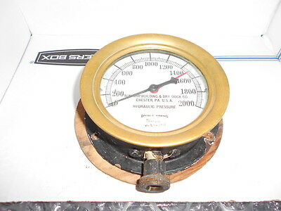 Vintage Ship Brass Hydraulic Guage, Brass Steampunk