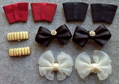 Lot of (5) Vintage Assorted Pairs of Shoe Clips Bow Accessories