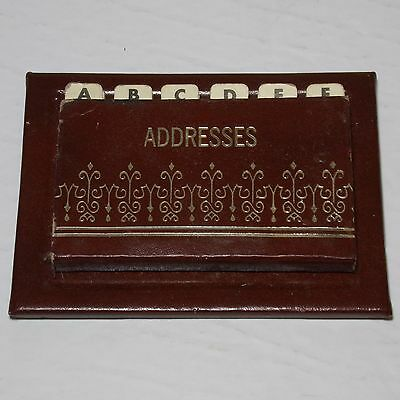 SMALL ADDRESSES POCKET PAD / phone Book 24 cards RARE vintage 1960s Barely used!